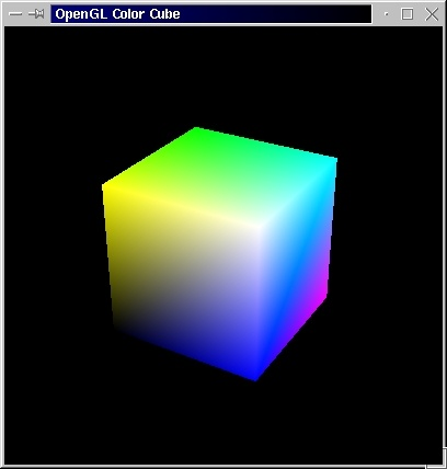 OpenGL Color Cube